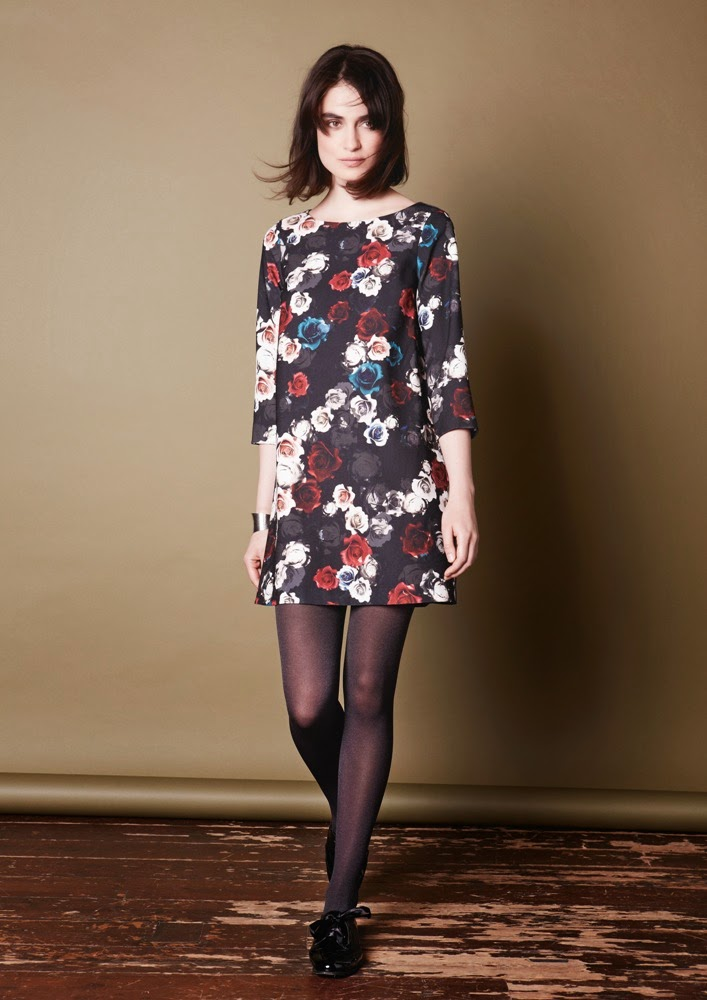 PHASE EIGHT LYRA FLORAL CREPE DRESS