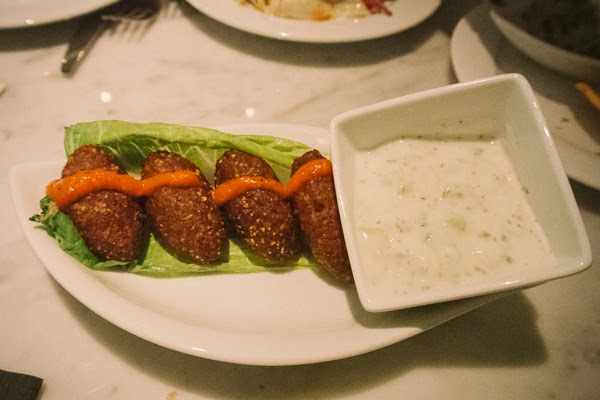 Kibbeh at Epice Lebanese restaurant in Nashville Tennessee