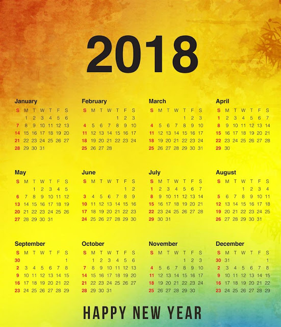 Happy New Year Calendar