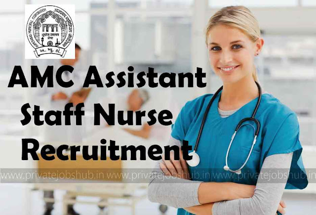 AMC Assistant Staff Nurse Recruitment