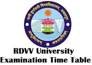Rani Durgavati University Jabalpur Time Table 2018