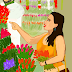 Woman at Flower Shop