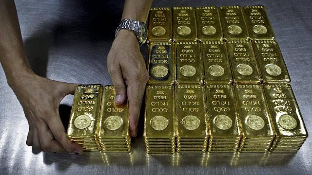 Запасы золота России выросли на 1,87%
