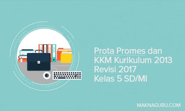 Prota Promes dan KKM Kurikulum 2013 Revisi 2017 Kelas 5 SD