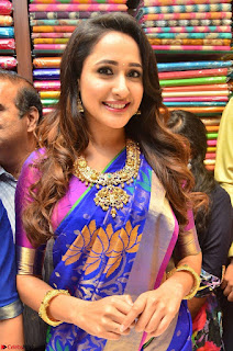 Pragya Jaiswal in colorful Saree looks stunning at inauguration of South India Shopping Mall at Madinaguda ~ Exclusive Celebrities Galleries 009