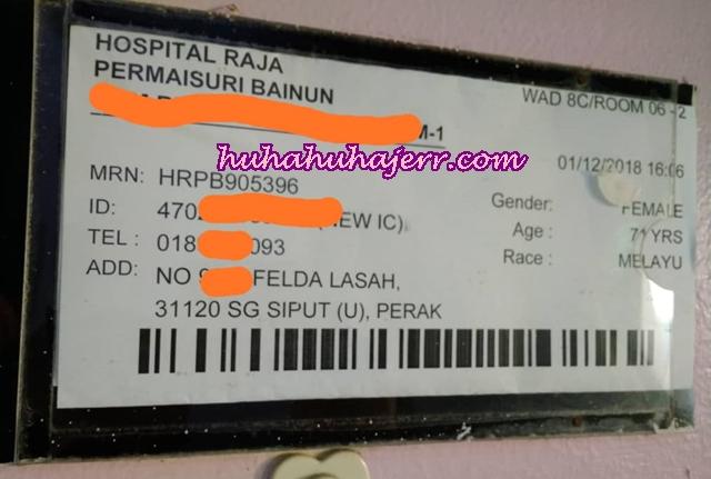 Menjaga Mak Yang Sakit Hospital Raja Permaisuri Bainun