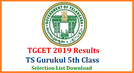Telangana Gurukul 5th Class Admission Entrance Exam Results to be released on 20th May 2019. TGCET 2019 Results Selection List Download here on official website tgcet.cgg.gov.in Telangana Gurukul Common Entrance Test Results Check here. TREIS SC ST BC have conducted 5th class Entrance Test on 07.04.2019 to get Admission into 5th class in all Gurukul Schools throughout Telangana State. Here is the Selection List available here you may Download. How to Download TS Gurukul 5th Class Entrance Results Selection List know details tgcet-gurukul-5th-class-entrance-exam-results-selection-list-download