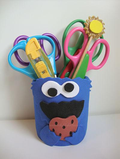 Esta es nuestra lata decorada con el monstruo de las galletas