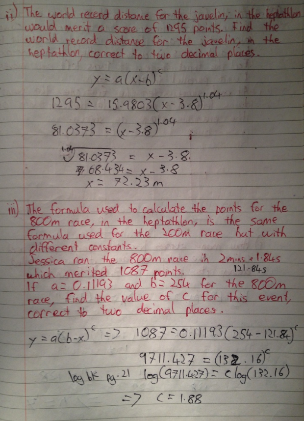 Leaving Cert Project Maths Paper 1 Solutions 19