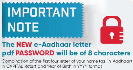 what is the password to open e aadhaar card