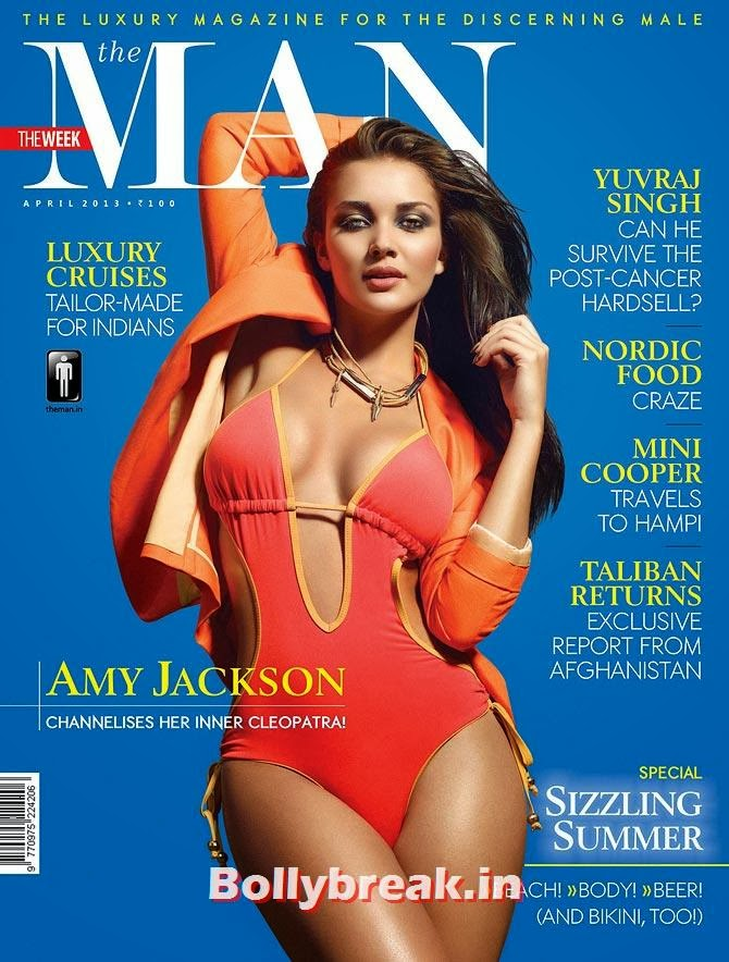 Amy Jackson on The Man cover, The Hottest cover girls of 2013
