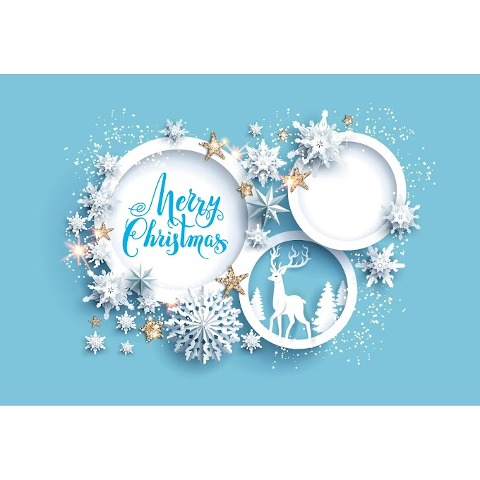 merry christmas, merry christmas wishes poster Paper cut christmas free vector
