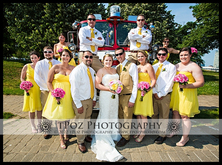 Federal Hill Park Wedding Party on Firetruck
