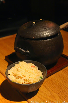 Kani (snow crab) clay pot rice with miso soup