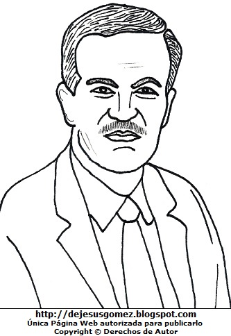 Hafez al-Asad para colorear pintar. Dibujo de Hafez al-Asad de Jesus Gómez