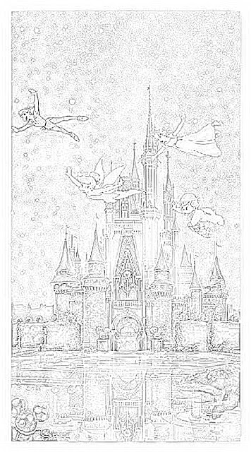 Cinderella's Castle Walt Disney World coloring.filminspector.com