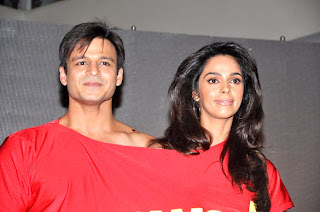 Vivek Oberoi & Mallika at First look launch of 'Kismat, Love, Paisa, Dilli'