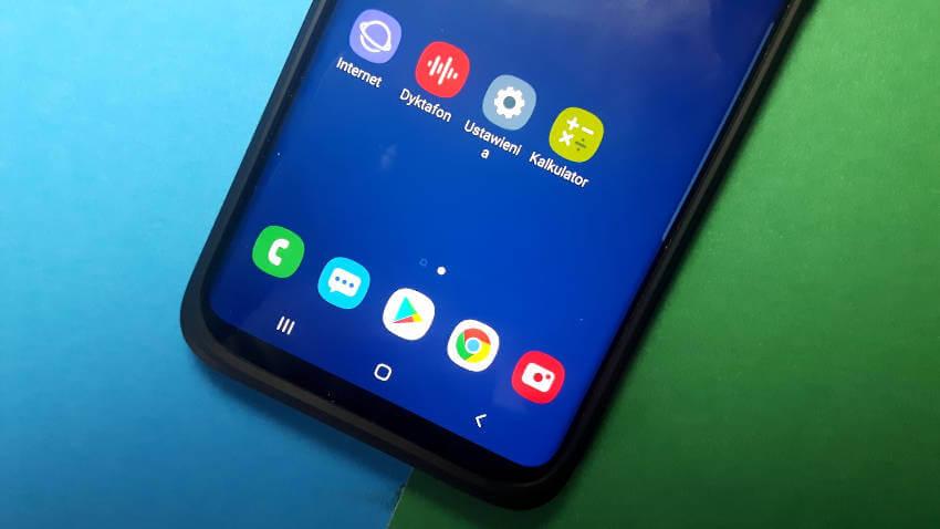 Samsung Galaxy S9+ Android 9 Pie One UI Przyciski Nawigacyjne