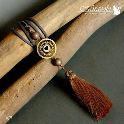 wisiorek z chwostem, tassel pendant