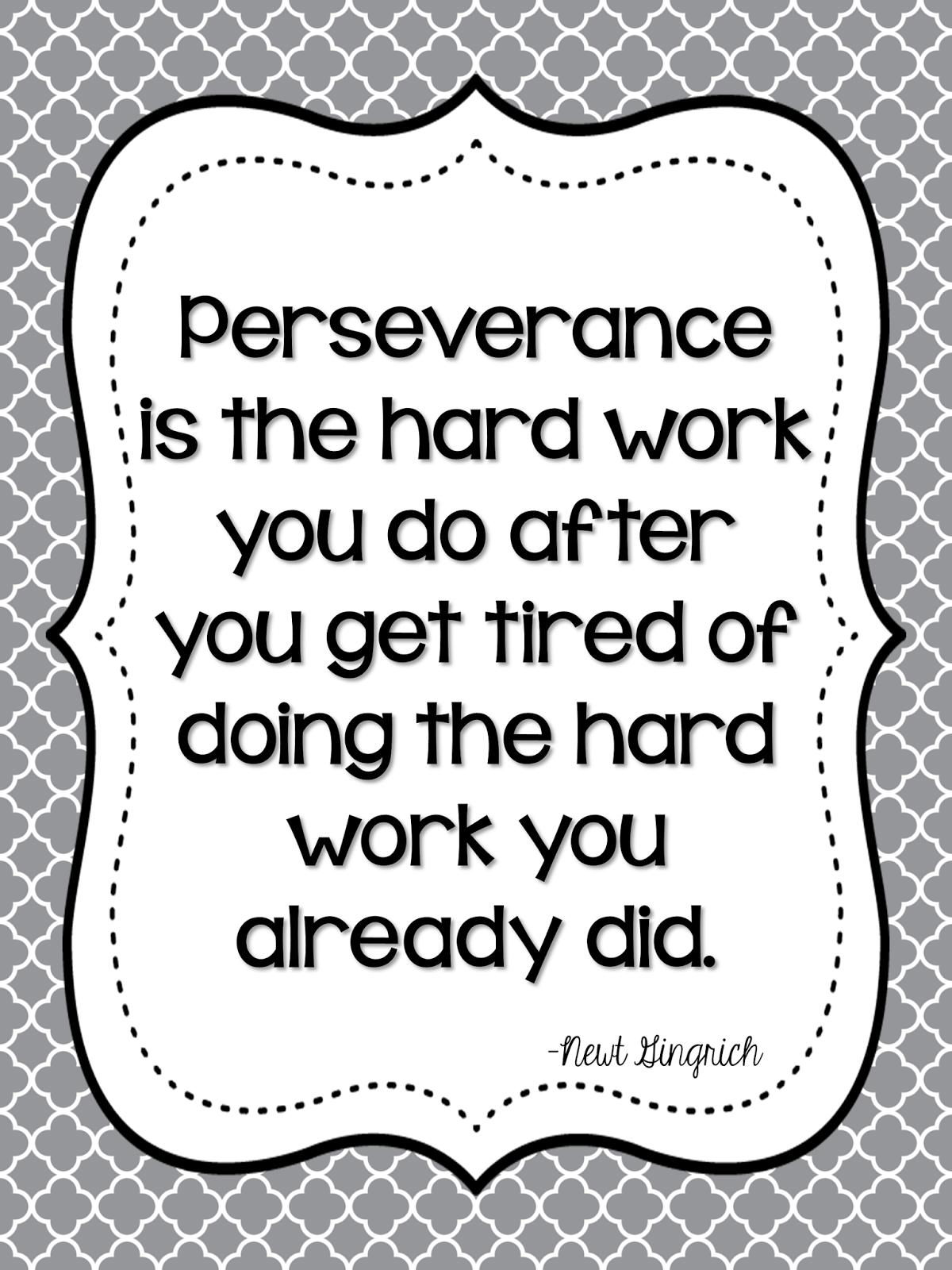 Perseverance | Growing Firsties
