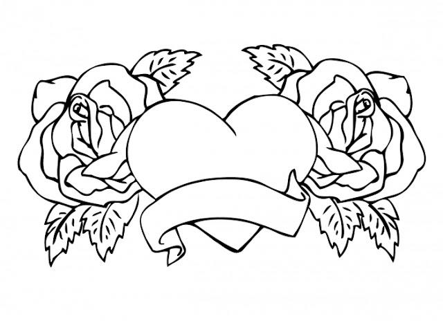 dibujos de rosas para colorear en linea