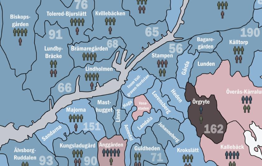 postnummer göteborg karta BaraBen.com: Supporterkartan: Här bor Blåvitts, Öis och Gais fans! postnummer göteborg karta
