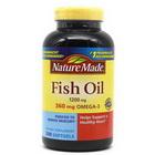 Viên uống bổ sung Dầu Cá Nature Made Fish Oil 200 viên Hàm Lượng Omega 3 Hàng Xách Tay Từ Mỹ