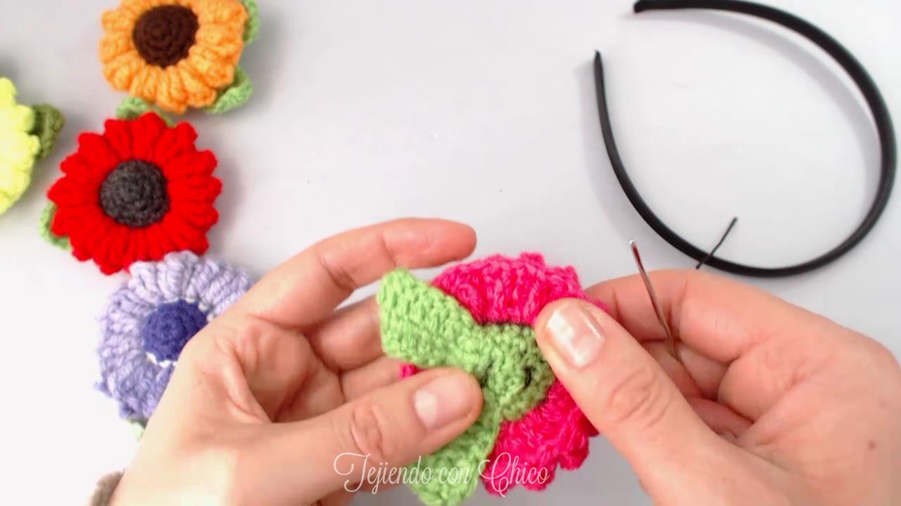 Tejiendo con Chico: Flor crochet (mod-3)