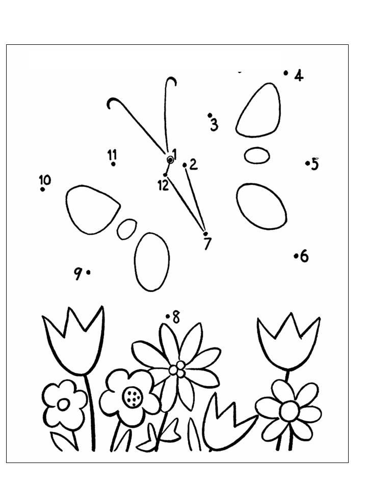 Aktiviti Menyambung Ik Nombor Menjadi Gambar Bunga