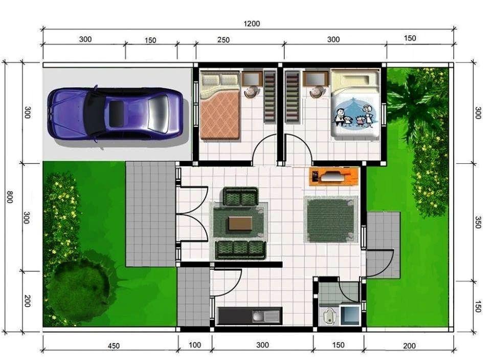 Gambar Denah Rumah Minimalis Type 36 Terbaik