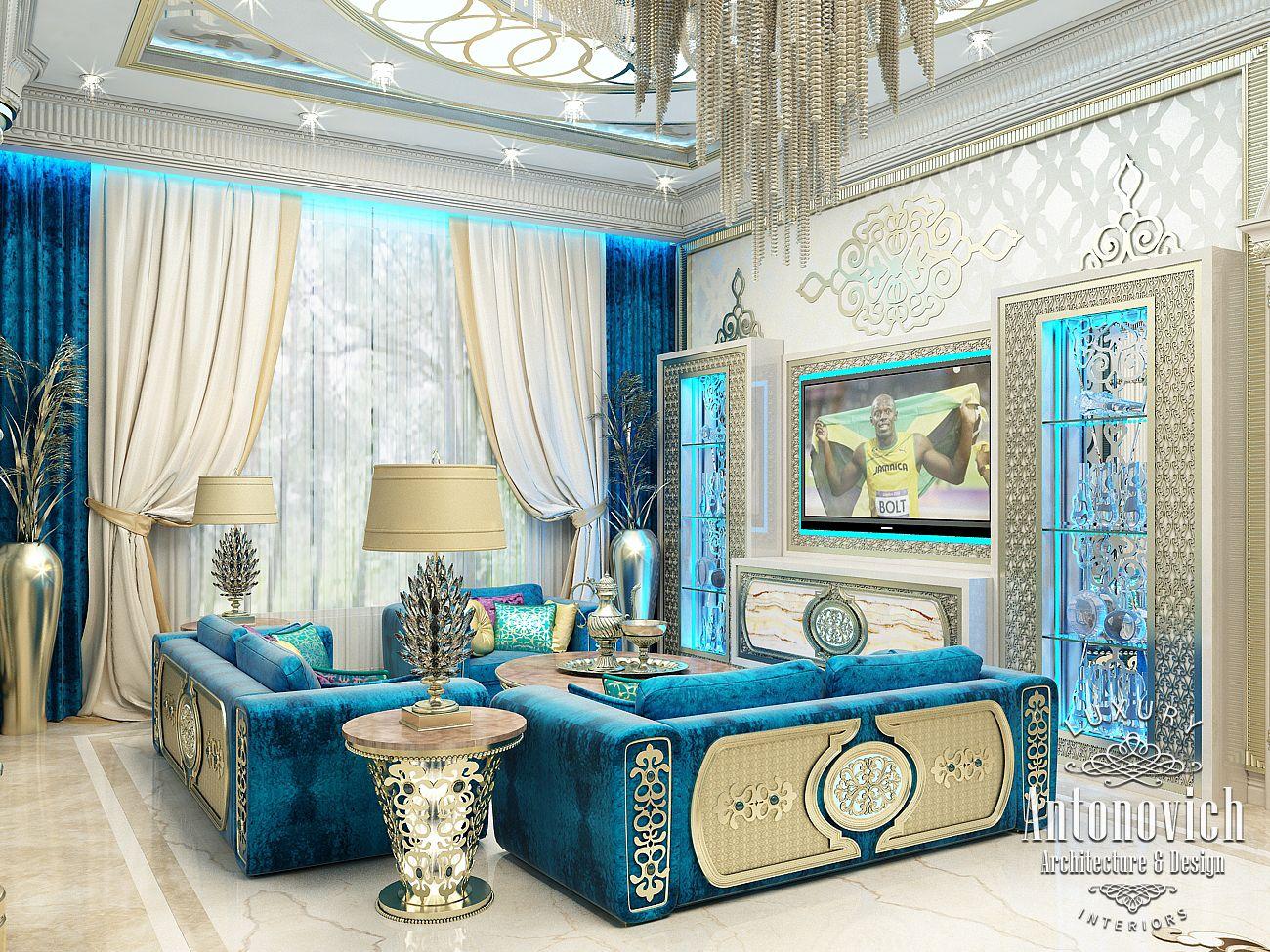 Living Rooms Design: LUXURY ANTONOVICH DESIGN UAE: Interior In Oriental Style