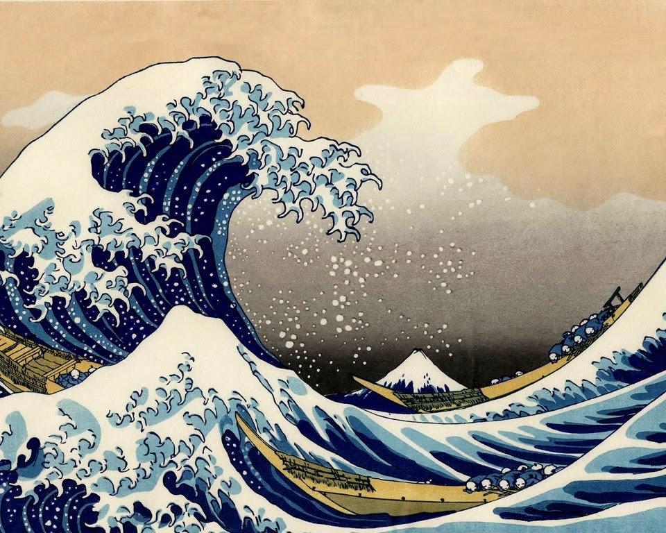 A Grande Onda - Pintura da série Trinta e Seis Vistas do Monte Fuji
