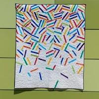 Party Pop modern batik quilt