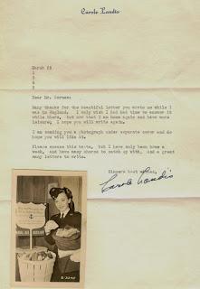 Carole Landis Letter