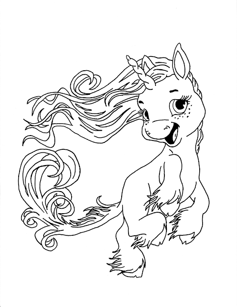 Unicorn Fairy Tales Coloring Pages