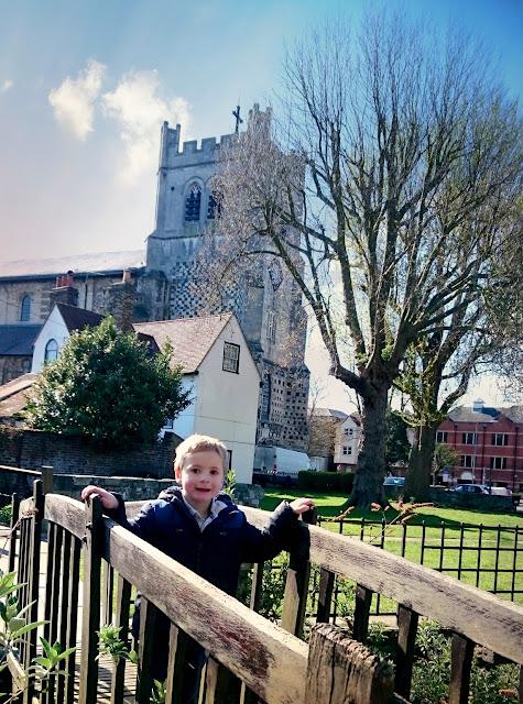 Mother/son day, Park, church, bridge