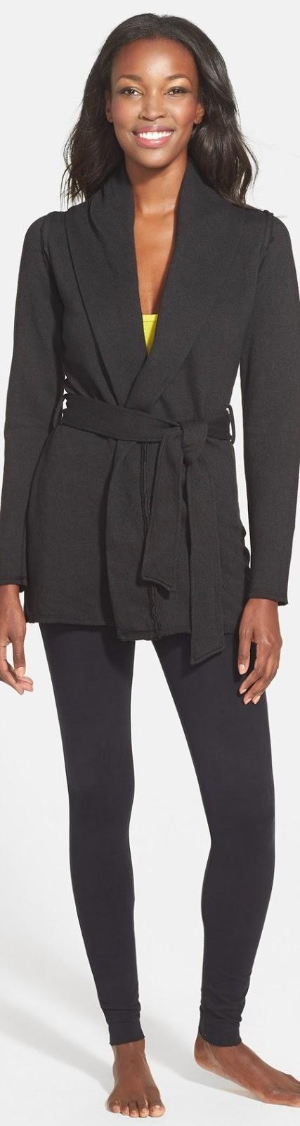 Omgirl 'Modern' Wrap Cardigan and leggings