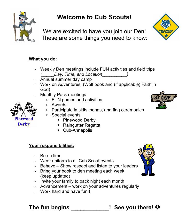 Akela's Council Cub Scout Leader Training: Boy Orientation