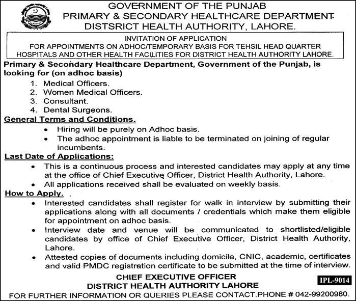 Primary and Secondary Health Care Latest September 2018 Jobs