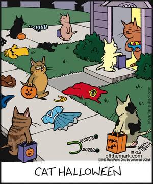 Mystery Fanfare: Cartoon of the Day: Cat Halloween