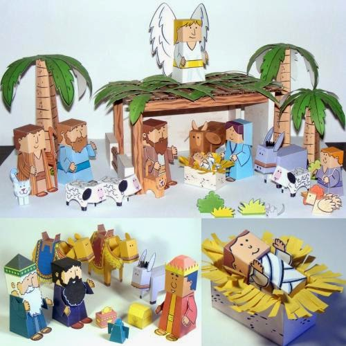 Easy Papercraft Nativity Scene