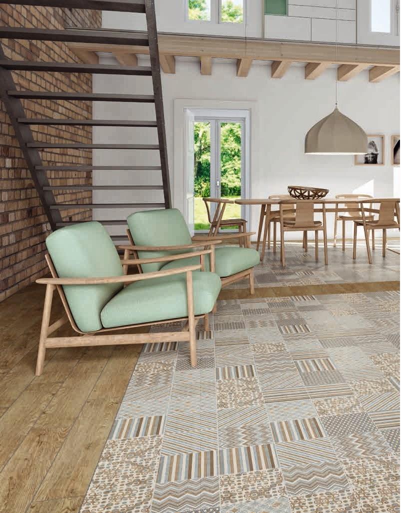 les ambiances carreaux imitation de carreaux de ciment. Black Bedroom Furniture Sets. Home Design Ideas