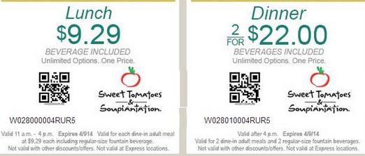 photograph regarding Sweet Tomatoes Printable Coupons named Lovable Tomatoes Printable Discount coupons September 2015