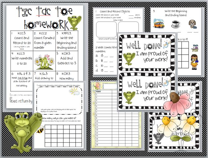 hw2collage - Kindergarten Homework Packets