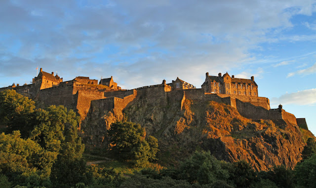 A picture of Edinburgh castle at sunset in Edinburgh Scotland United Kingdom
