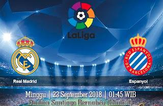 Prediksi Real Madrid vs Espanyol 23 September 2018