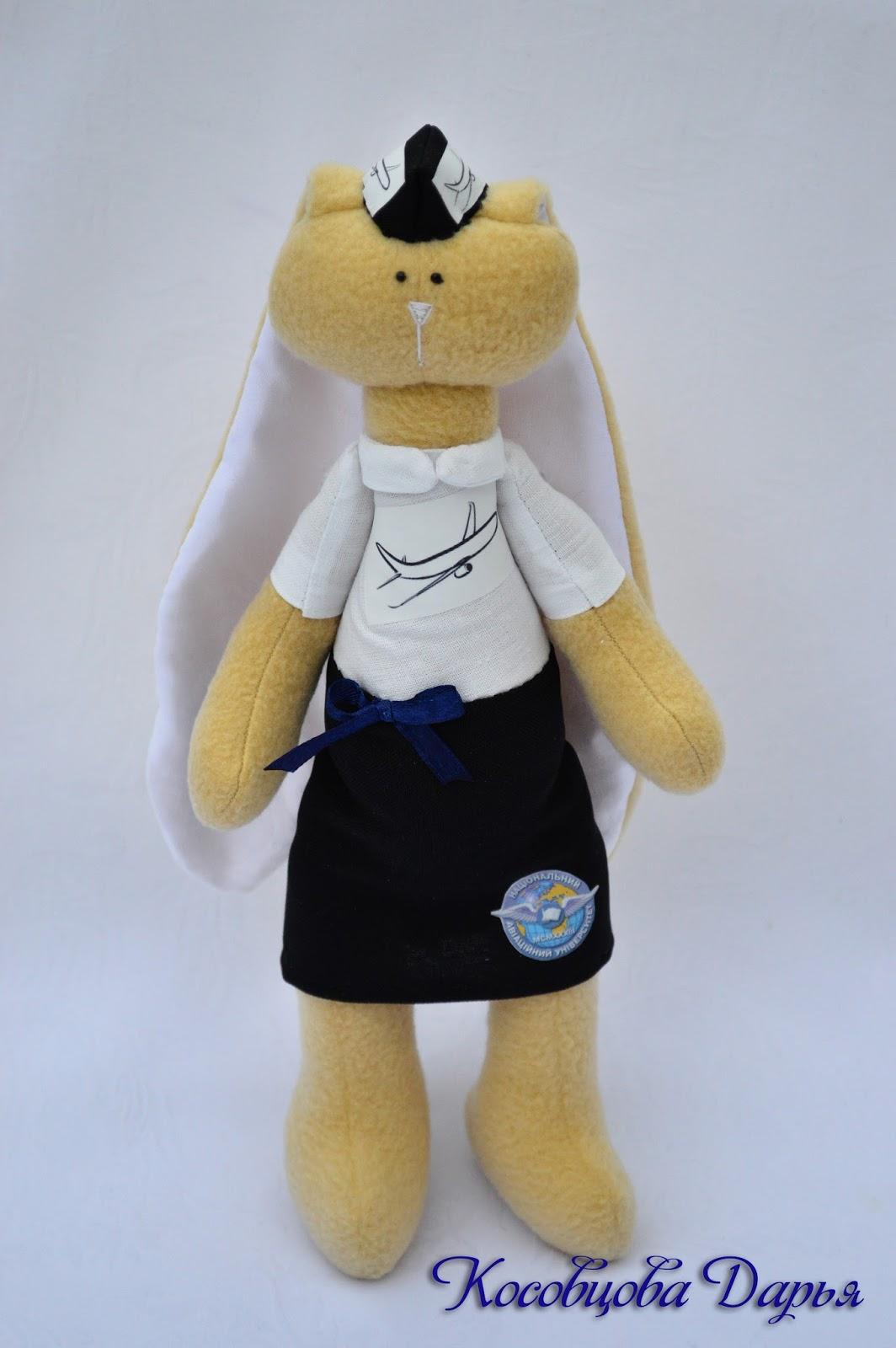 Игрушка ручной работы, авторский зайчик, заяц на заказ, купить игрушки ручной работы в киеве