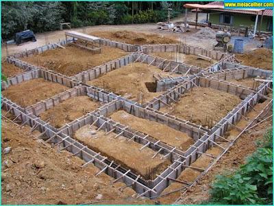 construção da viga baldrame