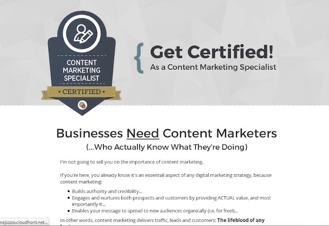 Certificado Oficial DigitalMarketer Certified Content Marketing Specialist