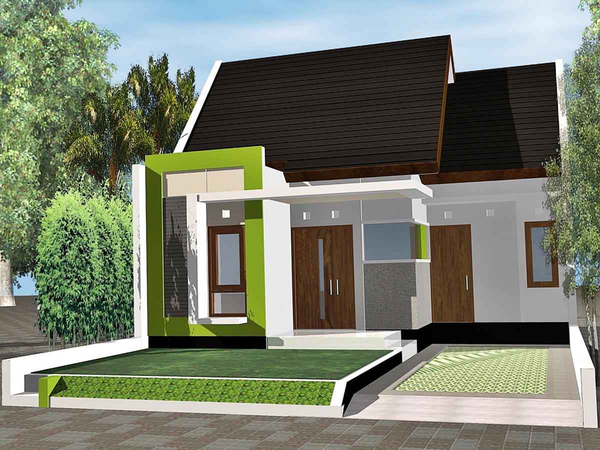 Desain Rumah 1 Lantai Type 45 Modern Sederhana